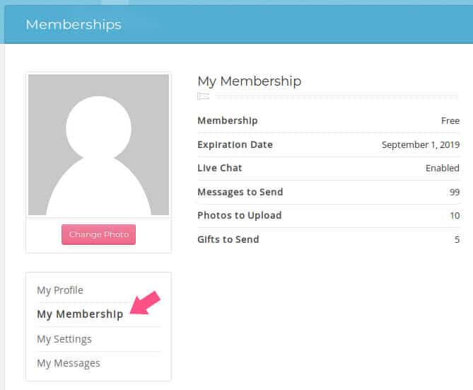 my membership information